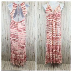 Lovestitch Womens Maxi Dress Ivory Diamond Tie Dye
